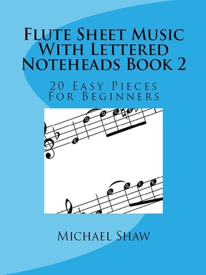 cover image of Flute Sheet Music With Lettered Noteheads Book 2