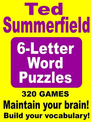 7 letter words ending with ted 6 letter word puzzles by ted summerfield 183 overdrive 25234