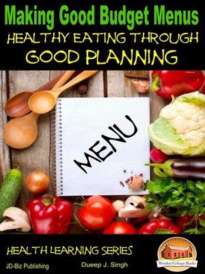 cover image of Making Good Budget Menus