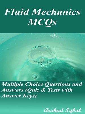 cover image of Fluid Mechanics MCQs