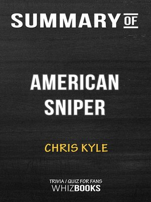 cover image of Summary of American Sniper