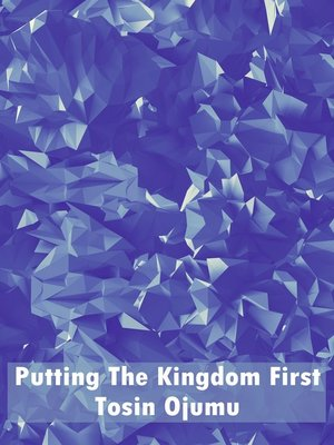 cover image of Putting the Kingdom First