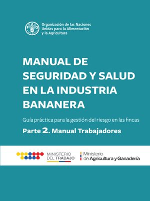 cover image of Manual de seguridad y salud en la industria bananera