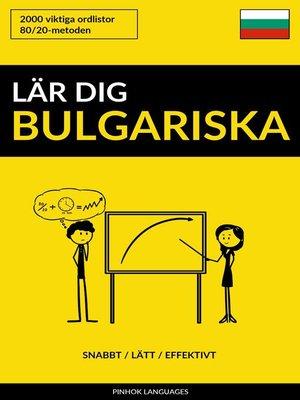 cover image of Lär dig Bulgariska