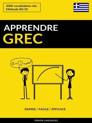 cover image of Apprendre le grec