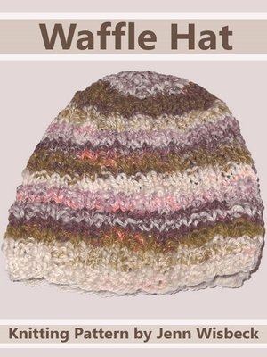 cover image of Waffle Hat Baby Knitting Pattern
