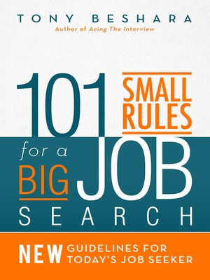 cover image of 101 Small Rules for a Big Job Search