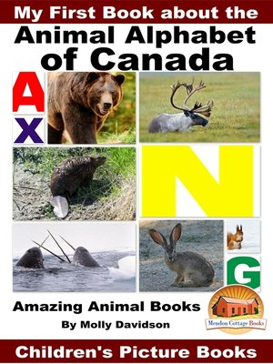 cover image of My First Book about the Animal Alphabet of Canada