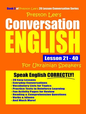 cover image of Preston Lee's Conversation English For Ukrainian Speakers Lesson 21