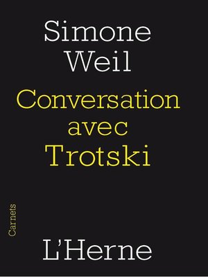 cover image of Conversation avec Trotski