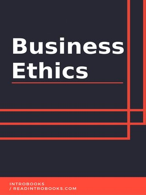 cover image of Business Ethics