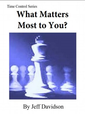 cover image of What Matters Most to You?