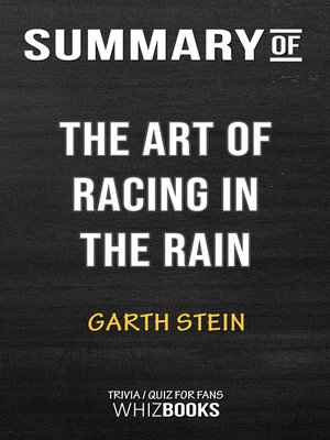 cover image of Summary of the Art of Racing in the Rain