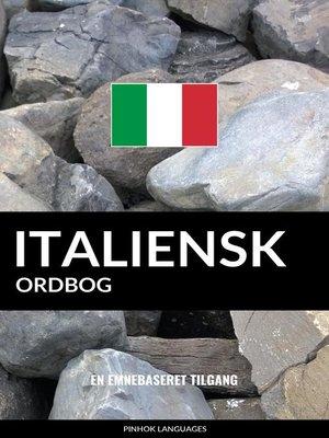cover image of Italiensk ordbog