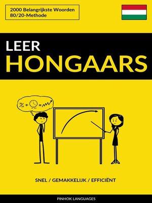 cover image of Leer Hongaars