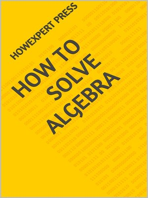 cover image of How to Solve Algebra Problems