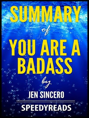 cover image of Summary of You Are a Badass by Jen Sincero