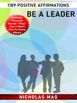 cover image of Be a Leader