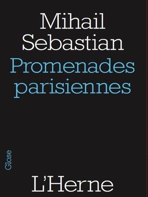 cover image of Promenades parisiennes