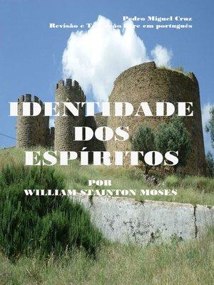 cover image of Identidade dos Espíritos
