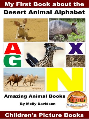 cover image of My First Book about the Desert Animal Alphabet