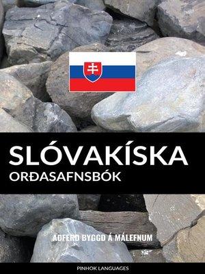 cover image of Slóvakíska Orðasafnsbók