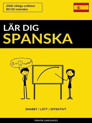 cover image of Lär dig Spanska