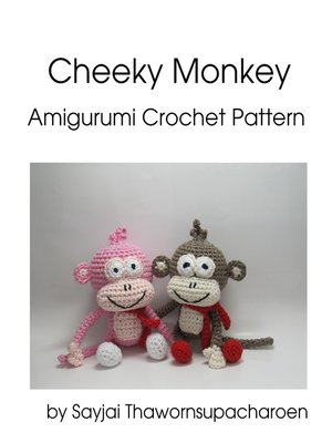 cover image of Cheeky Monkey Amigurumi Crochet Pattern