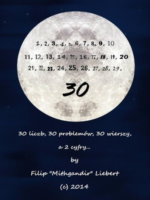 cover image of 30 Liczb (Original Polish Version)