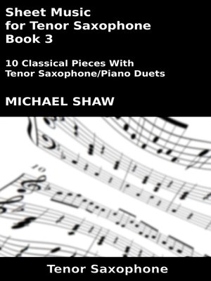 cover image of Sheet Music for Tenor Saxophone