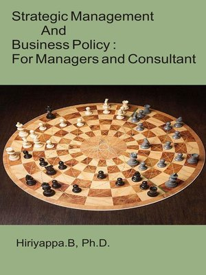 cover image of Strategic Management and Business Policy