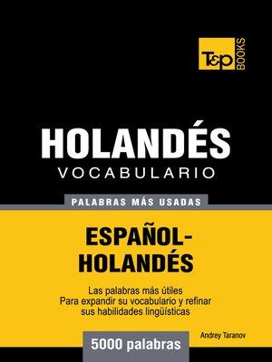 cover image of Vocabulario Español-Holandés