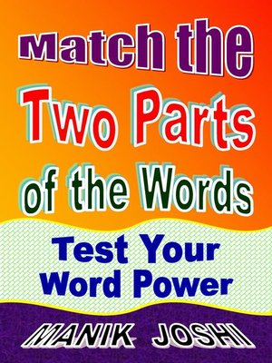cover image of Match the Two Parts of the Words