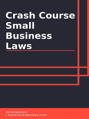 cover image of Crash Course Small Business Laws
