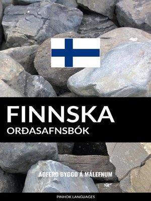 cover image of Finnska Orðasafnsbók
