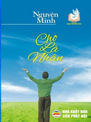 cover image of Cho là nhận