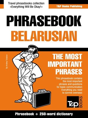 cover image of English-Belarusian phrasebook and 250-word mini dictionary