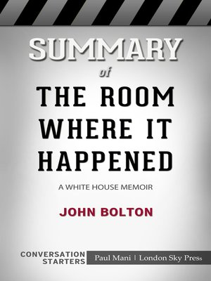 cover image of Summary of the Room Where It Happened