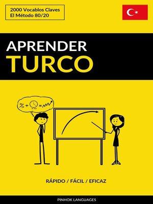 cover image of Aprender Turco