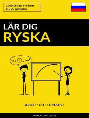 cover image of Lär dig Ryska
