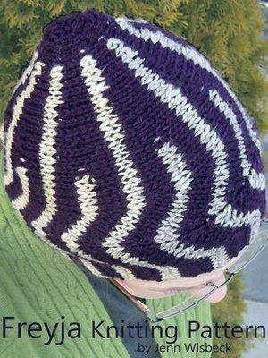 cover image of Freyja Short Row Hat Knitting Pattern