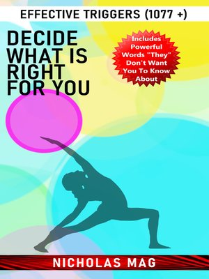 cover image of Decide What Is Right for You