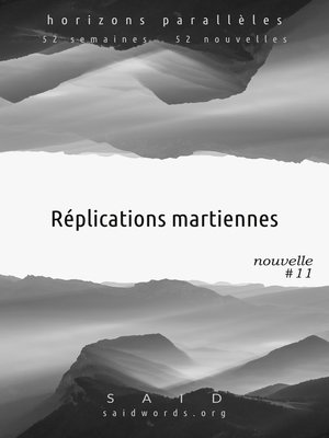 cover image of Réplications martiennes