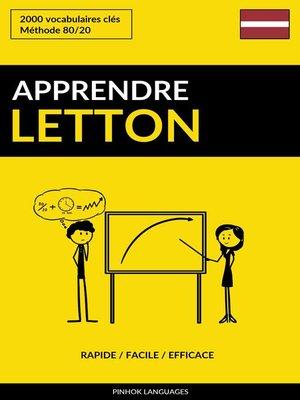 cover image of Apprendre le letton