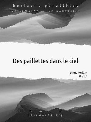 cover image of Des paillettes dans le ciel