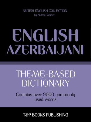 cover image of Theme-Based Dictionary