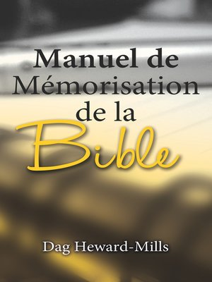 cover image of Manuel de mémorisation de la Bible