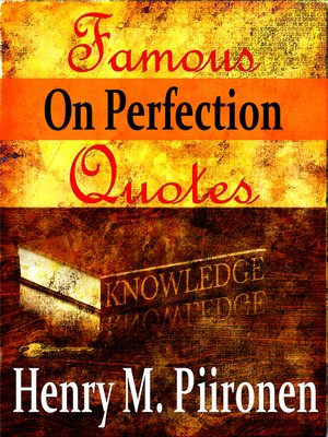 cover image of Famous Quotes on Perfection