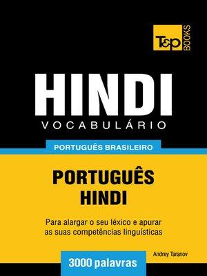 cover image of Vocabulário Português Brasileiro-Hindi