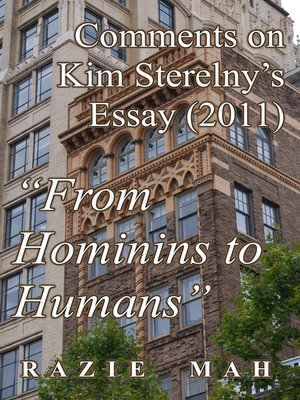 """cover image of Comments on Kim Sterelny's Essay (2011) """"From Hominins to Humans"""""""